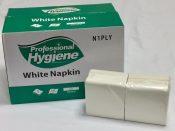 white serviettes